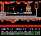 Lemmings NES Once the countdown reaches zero, the poor lemming will explode