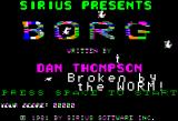 Borg Apple II Title screen