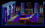 The Colonel's Bequest Atari ST Fifi dusting in the study.