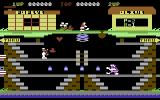 Popeye Commodore 64 Collect hearts on the first level
