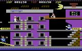 Popeye Commodore 64 Collect musical notes on the second level