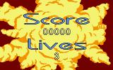 Space Ace II: Borf's Revenge DOS Score and Lives status screen.