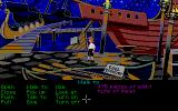 The Secret of Monkey Island Atari ST Checking out the ships at Stan's.