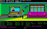 Zak McKracken and the Alien Mindbenders Atari ST Checking out the morning news.