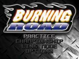 Burning Road PlayStation Main menu