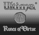 Ultima: Runes of Virtue Game Boy Title screen
