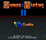 Ultima: Runes of Virtue II SNES Title