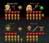 Ultima: Runes of Virtue II SNES Character selection