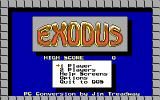 Exodus: Journey to the Promised Land DOS Menu