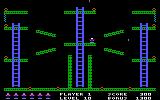 Jumpman PC Booter On this level, each time that you grab a bomb, a barrier appears! (PCjr)