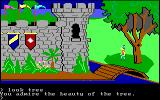 King's Quest PC Booter The King's castle. (Original PCjr release)