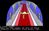 King's Quest PC Booter Hallway of the castle. (Original PCjr release)