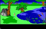 King's Quest PC Booter Pretty scenery. (Original PCjr release)