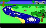 King's Quest PC Booter How can I cross the river and get that mushroom? (Original PCjr release)