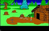 King's Quest PC Booter The woodcutter's cabin. (Original PCjr release)