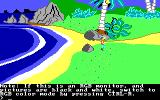 King's Quest II: Romancing the Throne PC Booter Start of the game. (PCjr)