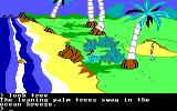 King's Quest II: Romancing the Throne PC Booter Seashore. (PCjr)