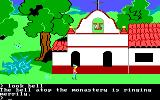 King's Quest II: Romancing the Throne PC Booter The church. (PCjr)