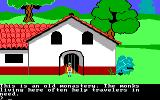 King's Quest II: Romancing the Throne PC Booter Maybe the monks here will help Graham? (PCjr)