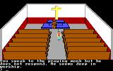 King's Quest II: Romancing the Throne PC Booter In the church. (PCjr)