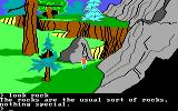 King's Quest II: Romancing the Throne PC Booter Rockly mountain nearby. (PCjr)