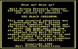King's Quest II: Romancing the Throne PC Booter An ad for the Black Cauldron on a tree. (PCjr)