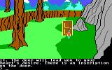 King's Quest II: Romancing the Throne PC Booter Door. (PCjr)