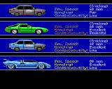 Sid Meier's Covert Action Amiga Choose your car for the chase.