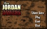 Ben Jordan: Paranormal Investigator Case 2 - The Lost Galleon of the Salton Sea (Deluxe Edition) Windows Menu screen
