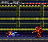 Sparkster SNES A robot in the final level