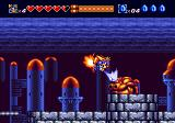 Sparkster Genesis Attacking an opponent from the air with a sword slash