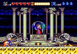 Sparkster Genesis The last level starts with the princess in the background