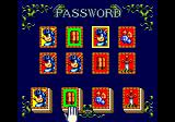 Sparkster Genesis The password screen