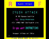 Cylon Attack BBC Micro Title screen