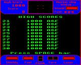 Cylon Attack BBC Micro High scores screen