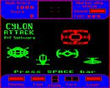 Cylon Attack BBC Micro Main menu