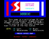 Overdrive BBC Micro Title screen