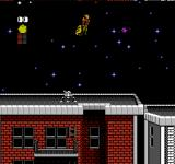 The Rocketeer NES Flying across the night sky.