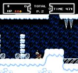 Disney's DuckTales NES Exploring more of the ice caverns.