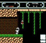 Disney's DuckTales 2 NES Climbing on vines.