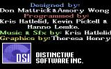 The Duel: Test Drive II Commodore 64 Game credits