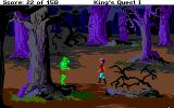 Roberta Williams' King's Quest I: Quest for the Crown Amiga Hello there! My don't you look ugly? What is that? You want to kill me? That's not good...