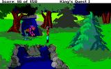Roberta Williams' King's Quest I: Quest for the Crown Amiga An ugly guy wants a toll to pass, must be the early version of an IRS audit agent.