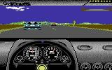 The Duel: Test Drive II Commodore 64 A race in progress