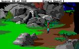Roberta Williams' King's Quest I: Quest for the Crown Amiga Rocky landscape.