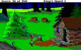 Roberta Williams' King's Quest I: Quest for the Crown Amiga A cabin.
