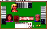 Hoyle Official Book of Games: Volume 1 Amiga Hearts - Choose three cards to pass