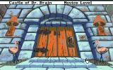 Castle of Dr. Brain Amiga Start of the game - Castle door.