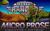 Airborne Ranger Amiga Title screen.