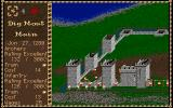 Castles Amiga Military menu - Hire or fire troops, train troops or dig a moat.